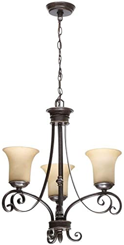 Hampton Bay 14708 Bayessex 3-Light Aged Black Chandelier