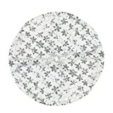 Northlight 20'' Decorative White and Silver Sequin Snowflake Pattern Mini Christmas Tree Skirt