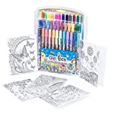 Glitter Gel Ink Pens Set: Assorted Color Pen Kit with Sparkle, Metallic and Pastel Jelly Pens for Kids and Adults - Gel Ink Art Supplies for Coloring, Writing, Drawing and Scrapbooking - 36 Pack