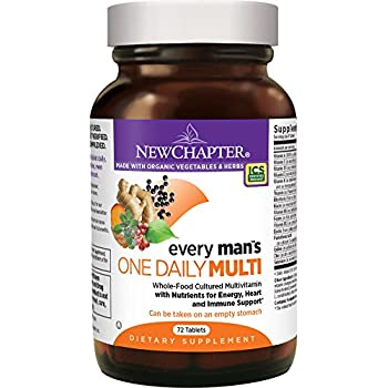 New Chapter Every Man's One Daily, Men's Multivitamin Fermented with Probiotics + Selenium + B Vitamins + Vitamin D3 + Organic Non-GMO Ingredients - 72 ct