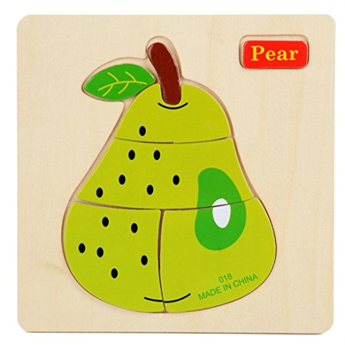 [Toy,Datework Kids Wooden 3D Thicker Puzzle Educational Toy Pear] (Adult Pear Costumes)