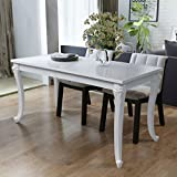 Cheap Festnight High Gloss Rectangular Dining Table for Home Decor, 47.2″x 27.6″x 30″, White