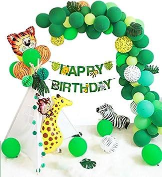 Amazon.com: Globos de decoración para fiestas de la selva ...