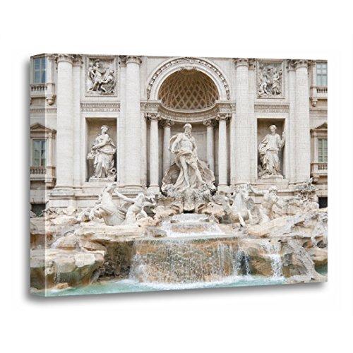 TORASS Canvas Wall Art Print City The Trevi Fountain Italian Fontana Di Creativity Artwork for Home Decor 12