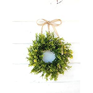 Mini Window Wreath, MINI Tea Leaf Wreath-Fixer Upper Decor,Farmhouse Wreath,Country Cottage Wreath, Farmhouse Decor, Small Wreath, Rustic Home Decor, Gifts 24
