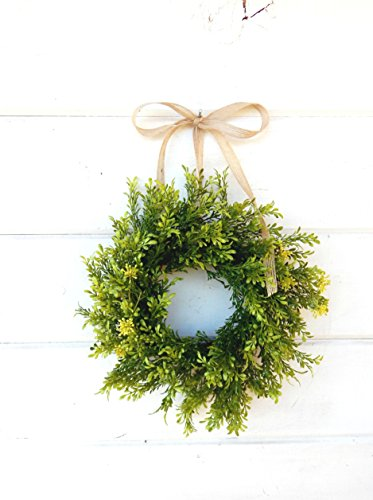 Mini Window Wreath, MINI Tea Leaf Wreath-Fixer Upper Decor,Farmhouse Wreath,Country Cottage Wreath, Farmhouse Decor, Small Wreath, Rustic Home Decor, Gifts -