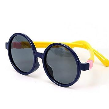 DFIHDCN Gafas de Sol Espejo Redondo para niños Gafas de Sol ...