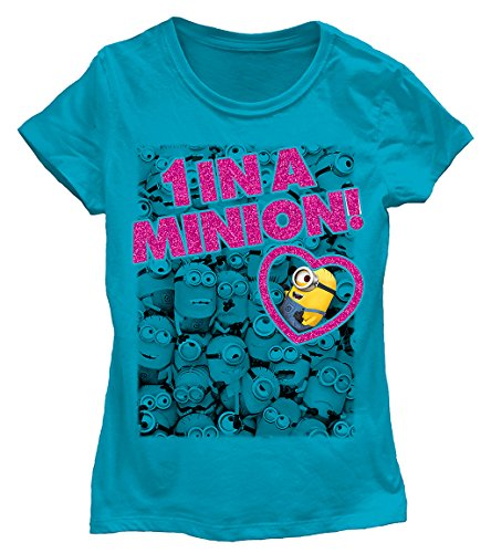 [Despicable Me 2 - 1 In A Minion Girls Turquoise T-Shirt   XL] (Despicable Me Glasses)