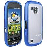 Verizon - OEM Verizon Samsung Continuum Galaxy S SCH-i400 Plastic Frosted Case, TPU Grip (Blue)