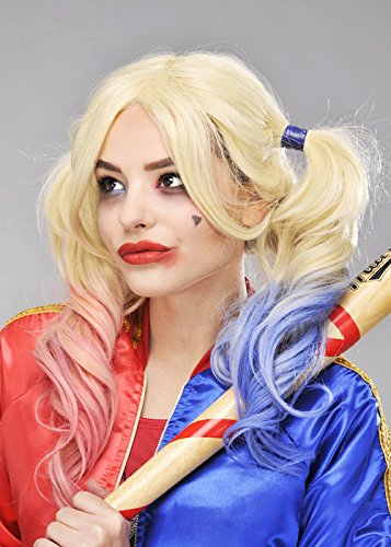 Womens Suicide Squad Style Blonde Harley Quinn Wig ()