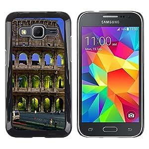 LECELL--Funda protectora / Cubierta / Piel For Samsung Galaxy Core Prime SM-G360 -- Architecture Colossus Building City --