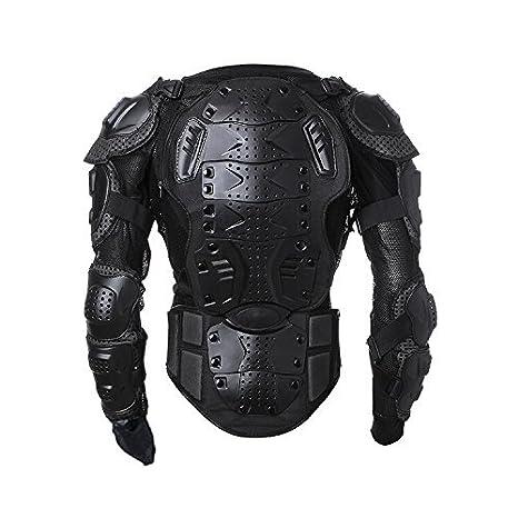 56c97ad728b Amazon.com  Goldfox Men s Motorbike Motorcycle Protective Body Armour Armor  Jacket Guard Bike Bicycle Cycling Riding Biker Motocross Gear Black  (Large)  ...