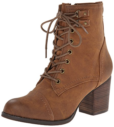Madden Girl Womens Westmont Combat Boot, Cognac, 11 M US / Shoes