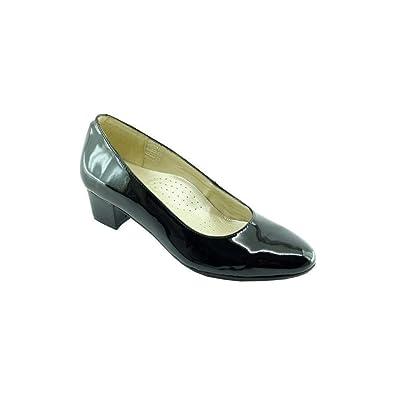 Escarpins d Hotesses ESCALE Alarm Free Escarpin Bout Rond Fin Petit Talon  Chaussures Confort Uniforme 397f2c711ebc