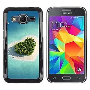 TopCaseStore / la caja del caucho duro de la cubierta de protección de la piel - Nature Beautiful Forrest Green 27 - Samsung Galaxy Core Prime SM-G360