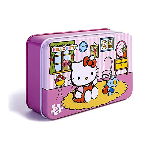 a06ae4468 NEILDEN 60 Pieces of Hello Kitty Puzzle - Eat Apple Jigsaw Toys for Children  and Girls to ...