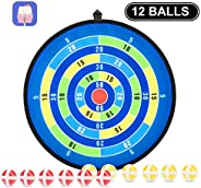Kids Games, Dart Board for Kids with 12 Sticky Balls, Safe&Classic Indoor and Outdoor Activity, Great Toy