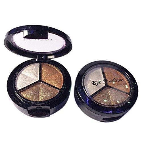 Eyeshadow - TOOGOO(R)Professional Smoky Cosmetic Set 3 Colors Natural Matte Eyeshadow Makeup Tools Palette Naked Nude Eye Shadow Glitter #3 coffee color + white + brown