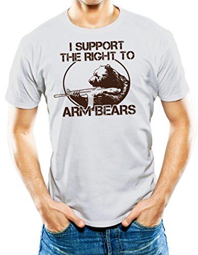Universal Apparel Men's I Support The Right To Arm Bears T-Shirt