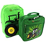 John Deere Mini 13 Inch Backpack and Lunch Box Set (Tractor Green)