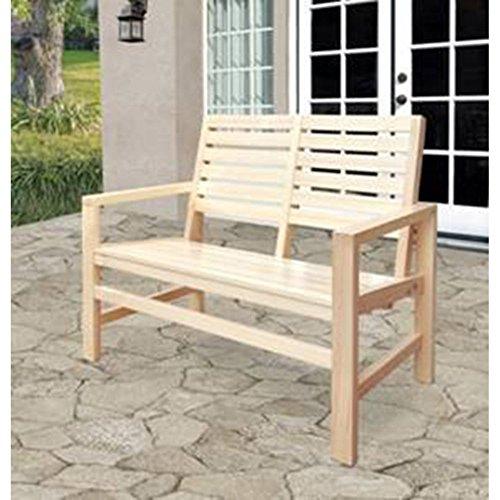 (Shine Company Contemporary Garden Bench, Vanilla)