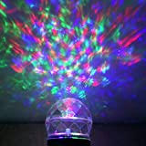 Kaleidoscope Lights Show Magical Spotlights - Outdoor Waterproof Projector Rotating Flame Light for Garden, Indoor, Outdoor, Birthday(Colorful and White)