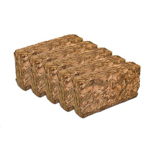 10 x Grober Kokosziegel je ca. 500 g - Bodengrund für Terrarien, Humusziegel, grob Terra-Discount