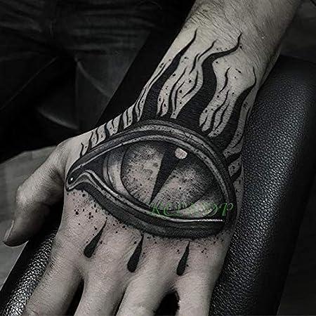 3 PC Impermeable Tatuaje tamaño de Sus Etiquetas de Halloween ...