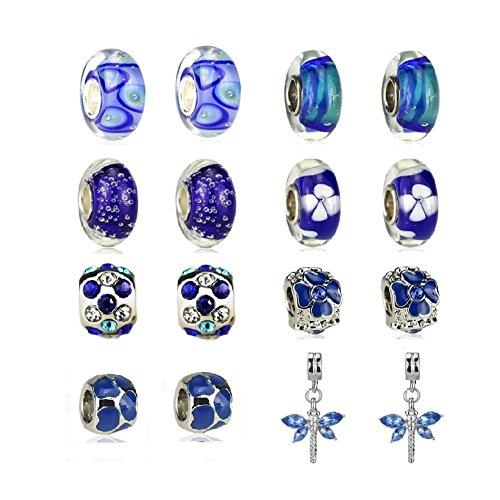 White Birch September Birthstone Charm Bracelet Charms Bulk Jewelry Making Sapphire ()