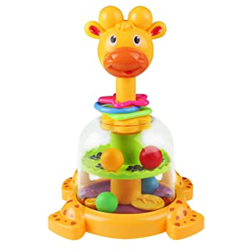 Birthday Gifts For Kids Baby Funny Rotary Spinning Toys Rattle Swirl Ball Giraffe Spin Toy