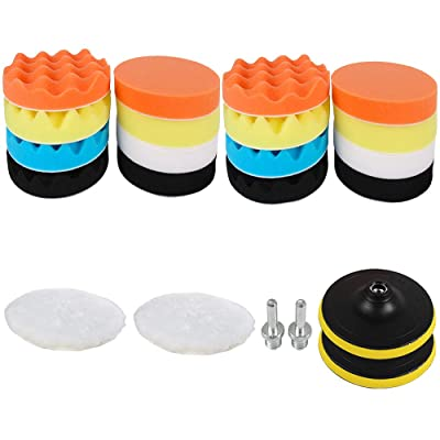 Sorrento Crafts Car Foam Drill Polishing Pad Kit 22 PCS, 3 Inch(80mm) Buffing Pads Sponge Pads Kit for Car Sanding, Polishing, Waxing, Sealing Glaze (Style 1): Automotive