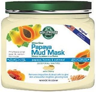 product image for Hollywood Style White Glow Papaya Mud Mask - Refines, Purifies, & Exfoliates (320gm Jar) - NEW Larger Size!