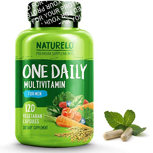 (NATURELO One Daily Multivitamin for Men - with Whole Food Vitamins, Organic Extracts - Natural Supplement - Best for Energy, General Health - Non-GMO - 120 Capsules | 4 Month Supply)