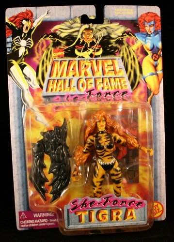 Marvel TIGRA Comics Hall of Fame SHE-Force Series 1997 Action Figure and Collector Trading Card