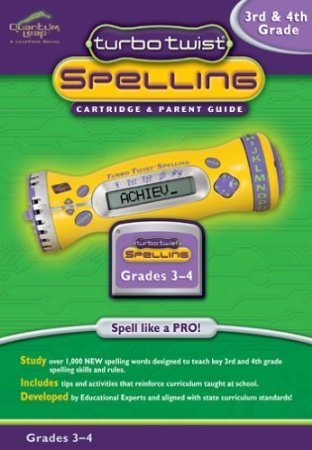 Turbo Twist Spelling Cartridge: 3rd and 4th Grade
