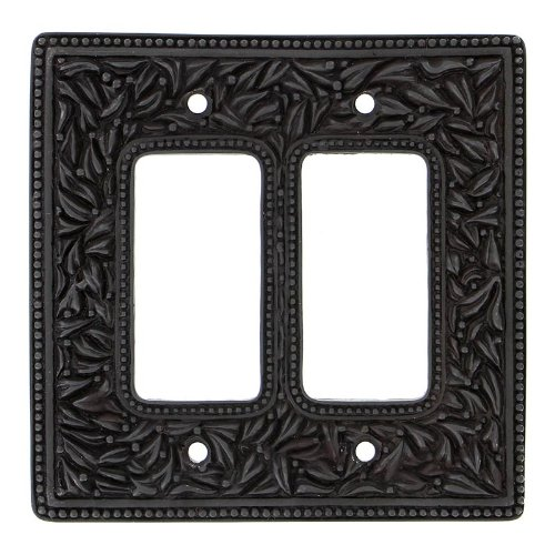 Vicenza Designs WPJ7005 San Michele Wall Plate with Jumbo Double Dimmer Opening, Oil-Rubbed Bronze by Vicenza Designs