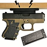 Foxx Block Magnetic Gun Mount Vehicle Home - Gun Magnet Mount Urethane Coated Strongest on Amazon! Concealed Firearm Holder Handgun, Pistol, Revolver, Car, Truck, Desk, Wall Vault
