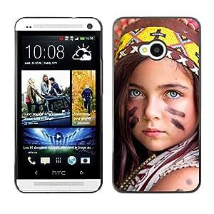 Be Good Phone Accessory // Dura Cáscara cubierta Protectora Caso Carcasa Funda de Protección para HTC One M7 // little indian devochka