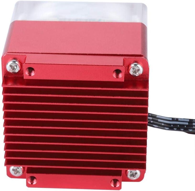 Red ASHATA Super Silent RGB Water-Cooled Radiator Water-Cooled Pump for PC Computer Water Cooling Water Circulation Pump