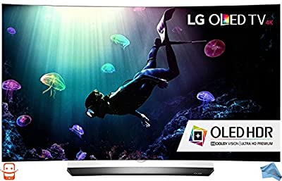 LG Electronics OLED65C6P Curved 65-Inch 4K Ultra HD Smart OLED TV (2016 Model) Kit with Microfiber Cloth