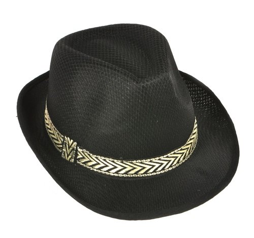 BLACK MESH FEDORA, Case of 96