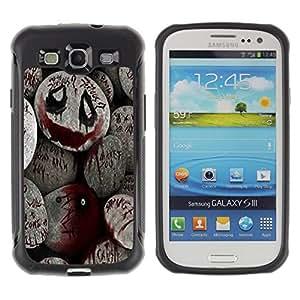 iKiki Tech / Estuche rígido - Halloween Spooky Blood Monster Pumpkin - Samsung Galaxy S3 I9300