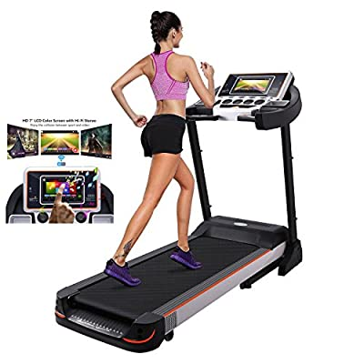 Benlet 3.0HP Electric Treadmill, Folding Fitness Treadmill Home Gym Exercise Training Workout Equipment with Touch Screen WiFi