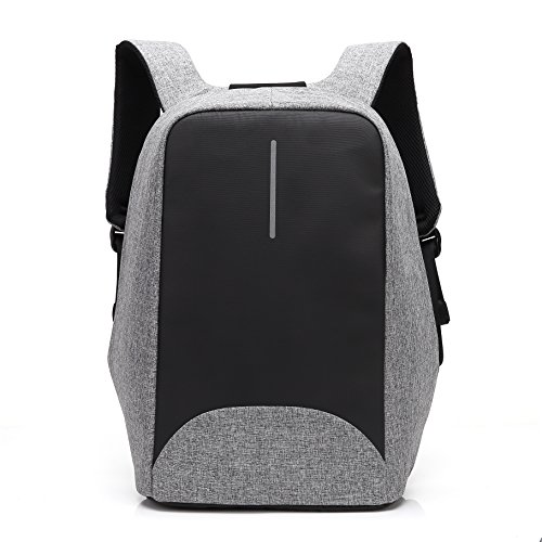 Anti Theft Travel Laptop Backpack,UBaymax Business Security Laptop Backpack with USB Charging Port,Water Resistant Bookbag Daypack for College School for Men Women Fit 15.6 inch Notebook Computer Grey