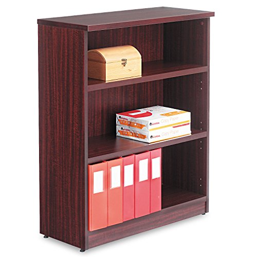 Valencia Series Three-Shelve Bookcase and Storage Cabinet Finish: Mahogany (Cabinet Bookcase Alera)