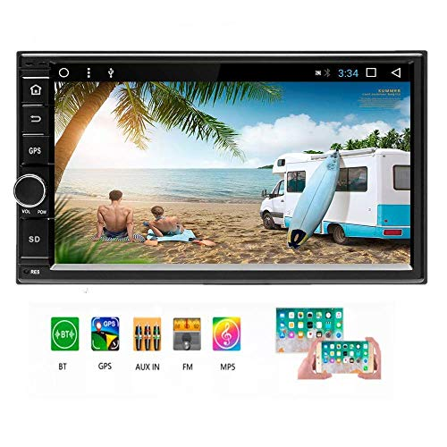 Capacitance Screen Touch - Android 6.0 Double Din Car Stereo/Car Radio 7'' Capacitance Touch Screen MP5 Player with Autoradio Bluetooth USB GPS 2G + 16G Memory Support Rear View Camera