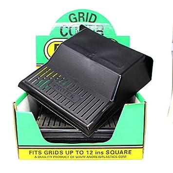 WW030 4 X BLACK PLASTIC ROUND DRAIN GULLEY GRID COVER BLOCK 180MM 7 INCH