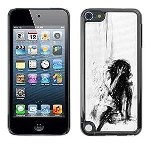 For Apple iPod Touch 5 Case , Depression Deep Emo Black - Diseño Patrón Teléfono Caso Cubierta Case Bumper Duro Protección Case Cover Funda