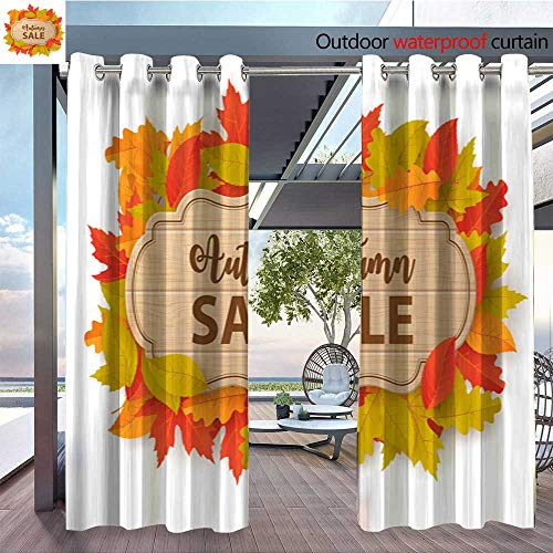 QianHe Outdoor Blackout Curtains Autumn-Sale-Background-with-Leaves-Can-be-Used-for-Shopping-Sale-Promo-Poster-Banner-Flyer-Invitation-Website-or-Greeting-Card-Vector-illustration1.jpg Outdoor Priva