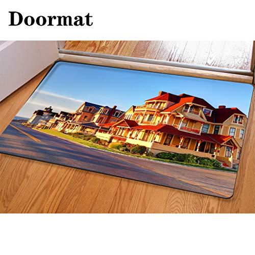 (HooMore 3D Printing and Dyeing,Bathroom Carpet, Door mat,Marthas Vineyard Flannel Foam Shower mat, Absorbent Kitchen Door Carpet)